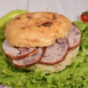 Shepherds bun with rolled veal