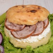 Shepherds bun with rolled veal and cheese