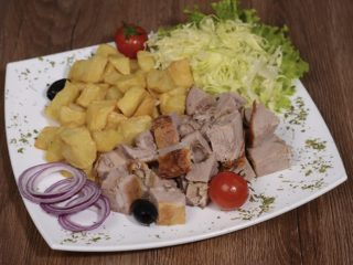 Meal rolled roasted veal 200 grams with shepherds potato delivery