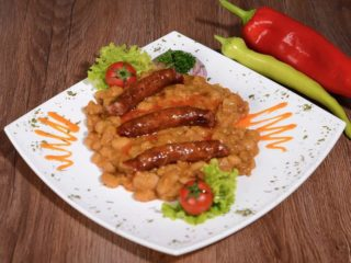 Shepherds baked beans with sausage delivery