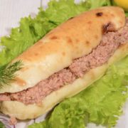 Shepherds fasting flat bread with tuna