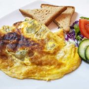 Omelet with feta cheese and spinach