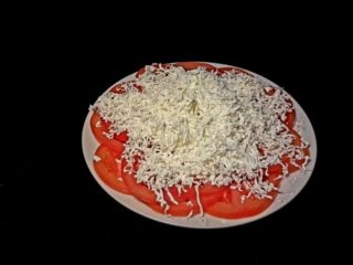 Tomato with cheese delivery