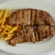 Grilled veal steak