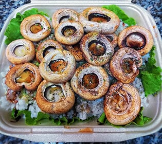 Grilled mushrooms with rice delivery
