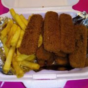 Fish sticks in a portion