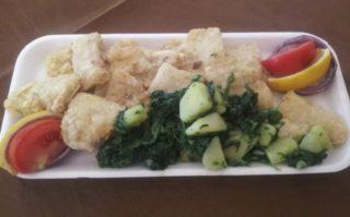 Filet soma/pangasius sa krompirom i blitvom dostava