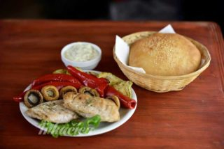 Grilled chicken fillet with grilled vegetables delivery