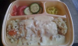 Stuffed chicken medallions in mushroom sauce delivery