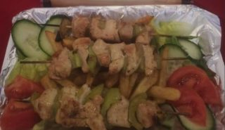Chicken kabobs portion delivery