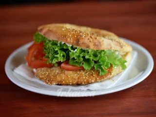 Sandwich chicken Viennese steak in sesame delivery