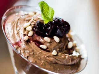 Chocolate mousse with cognac delivery