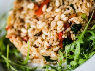 Vegetarian risotto delivery