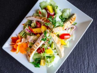 Mango salad with chicken delivery