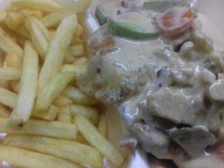 Piletina pršut, povrće – obrok dostava