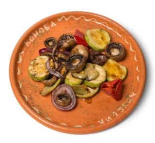 Grilled vegetables portion delivery