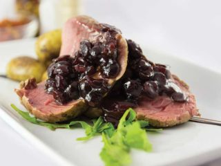 Beefsteak with cranberry sauce delivery