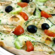 Pizza Zucchine, Melanzana e Pomodoro