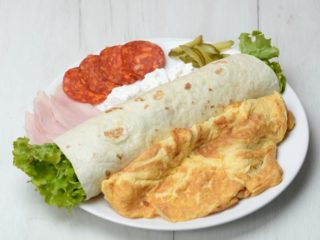 Jumbo omelet in tortilla delivery