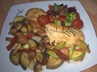 Piletina sa grilovanim povrćem dostava