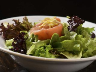 Lettuce with smoked trout delivery