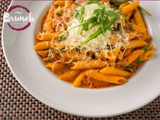 Brunch penne with kulen delivery