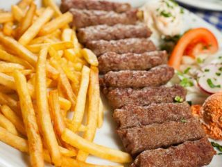 Cevapi with French fries delivery
