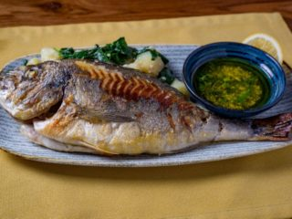 Grilled sea bream delivery