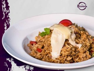 Risotto with beefsteak and cheese delivery