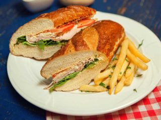 Index sandwich in Bavaria roll bun delivery