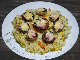 Stuffed grilled mushrooms delivery
