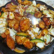 Crispy chicken in soy sauce
