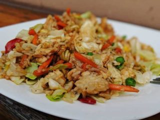 Rice with eggs and vegetables delivery