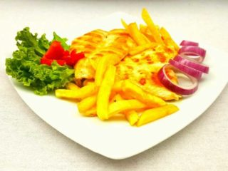 Chicken fillet with side dish delivery