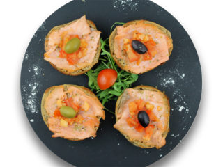 Bruschette smoked salmon fasting delivery