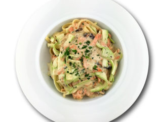 Pasta smoked salmon delivery