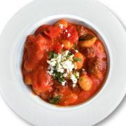 Gnocchi with mangalitza meatballs
