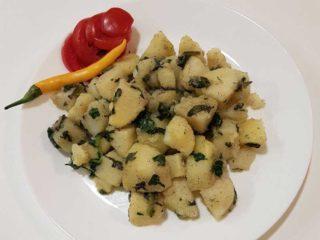 Potato spinach delivery