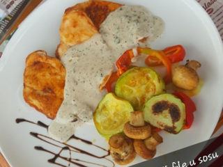 Chicken fillet in 3 type of pepper sauce delivery