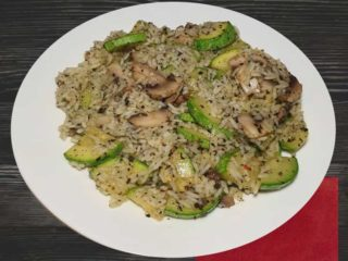 Risotto with mushrooms and zuchinni delivery