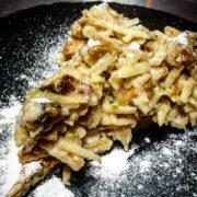 Tart apple waffle