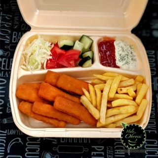 Fish fingers meal delivery