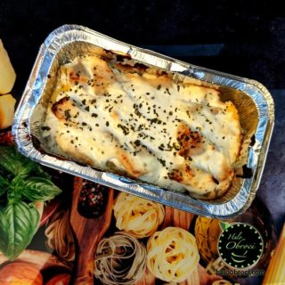 Potato gratin with chicken  meal delivery