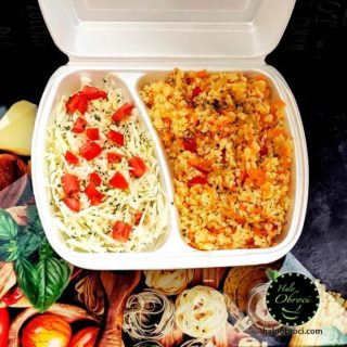 Fasting risotto with vegetables  meal delivery