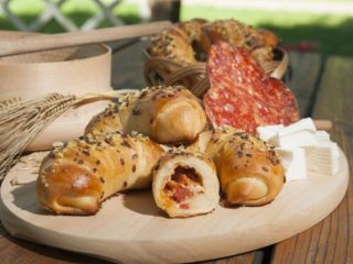 Buns with kulen and cheese delivery