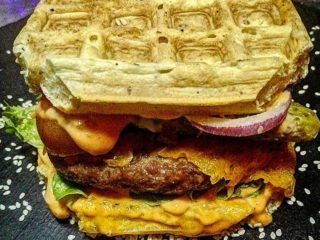 Waffleburger delivery