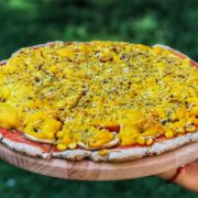 Corn pepper pizza