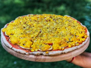 Corn pepper pizza dostava