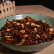Chicken peanuts risotto