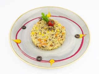 Brown rice with vegetabes. delivery
